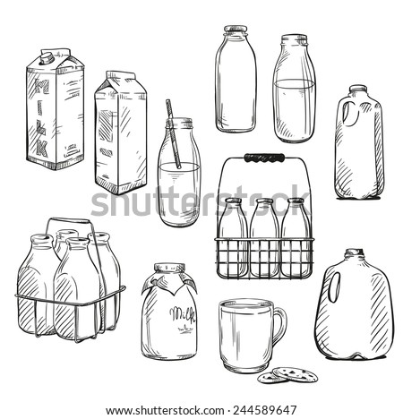 Milk. Packaging. Vector illustration.  - stock vector