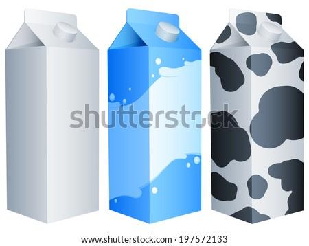 Milk packs. - stock vector