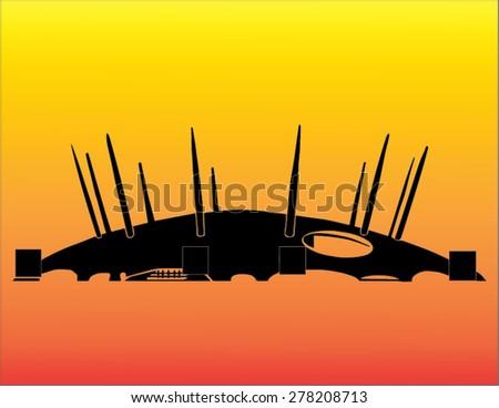 Millenium Dome London - stock vector