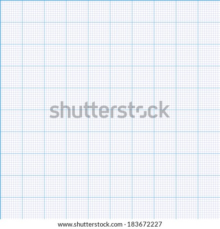 Millimeter paper grid vector seamless pattern 100mm square size patch - stock vector
