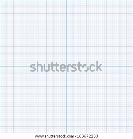 Millimeter paper grid vector seamless pattern 200mm square size patch - stock vector