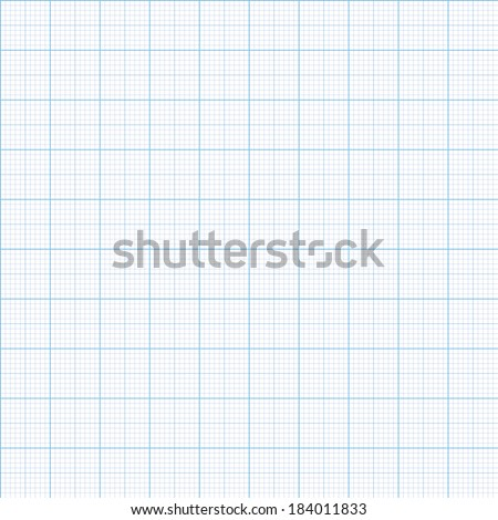 Millimeter paper one, five and ten mm grid shift, vector 100mm size - stock vector