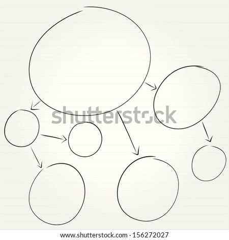 mind mapping, diagram - stock vector