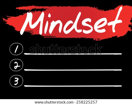 Mindset Blank List, vector concept background - stock vector
