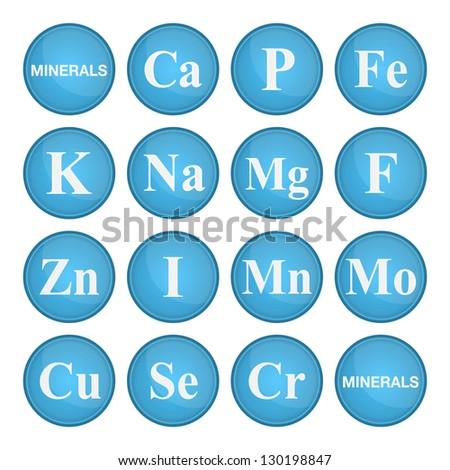 Minerals (Vitamins). Healthy life concept. Vector illustration - stock vector