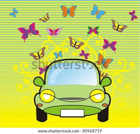 mini car - stock vector