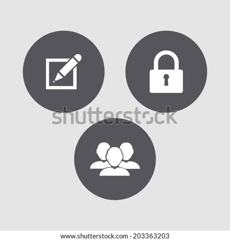 Mini set - computer symbols. - stock vector