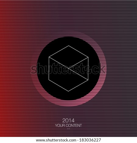 Minimal abstract vector design with your text eps10 - stock vector