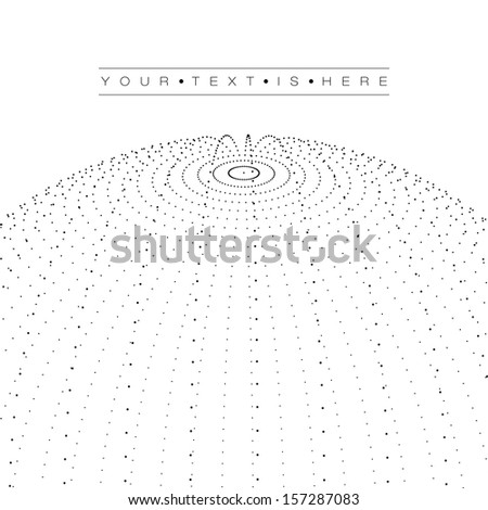 Minimal Black and White 3D Globe Circles | EPS10 Design Layout for Your Business - stock vector