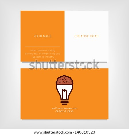 Minimal business cards - stock vector