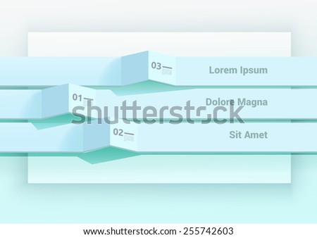 Minimal EPS10 Illustration for Levels Structure Vector Presentation  - stock vector