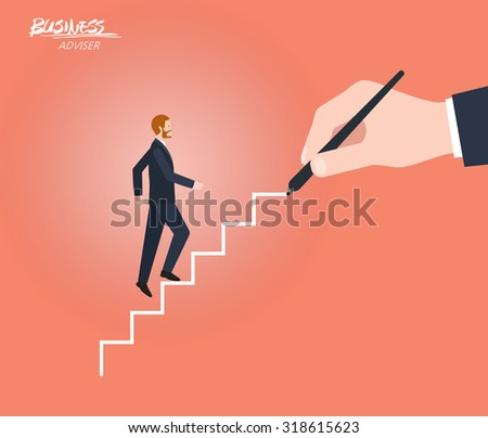 Minimal flat character of business adviser concept illustrations - stock vector