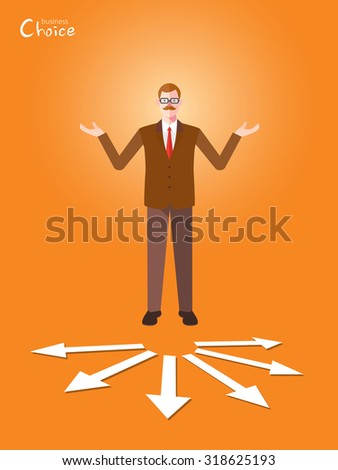 Minimal flat character of business choice concept illustrations - stock vector