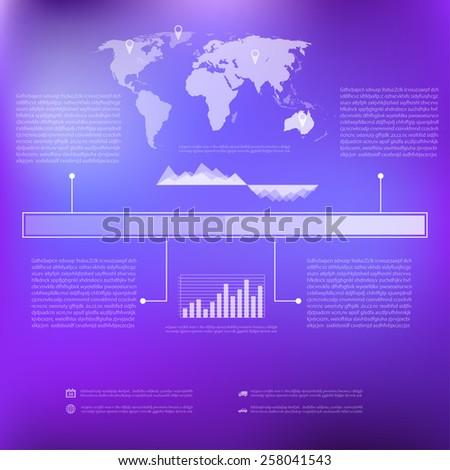 Minimal info graphics design. - stock vector