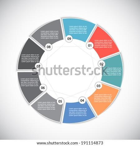 Minimal infographic template, vector illustration - stock vector