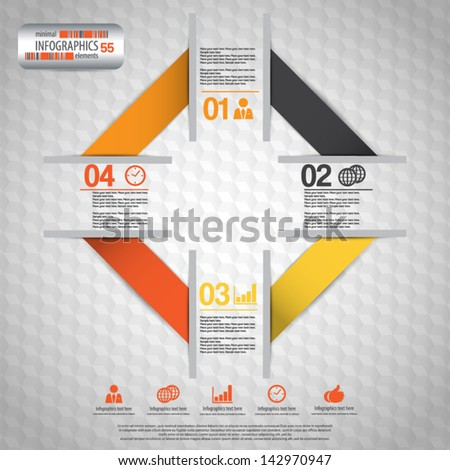 minimal infographics - stock vector