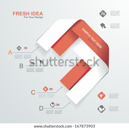 Minimal infographics design. Vector illustration. - stock vector