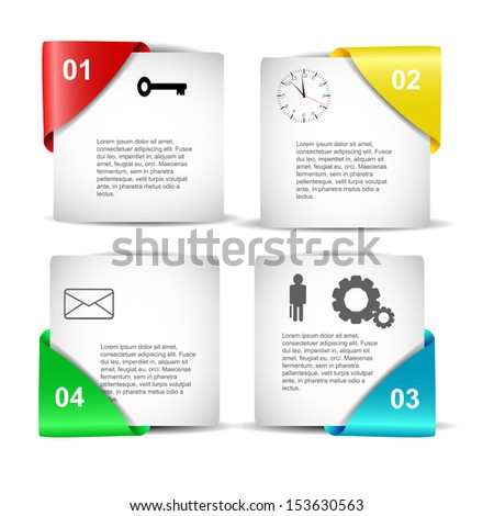 Minimal infographics design. Vector with fresh colour. - stock vector