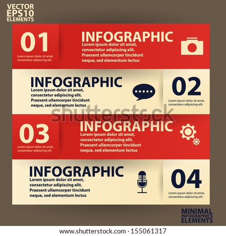 Minimal infographics. Vector Illustration vintage - stock vector