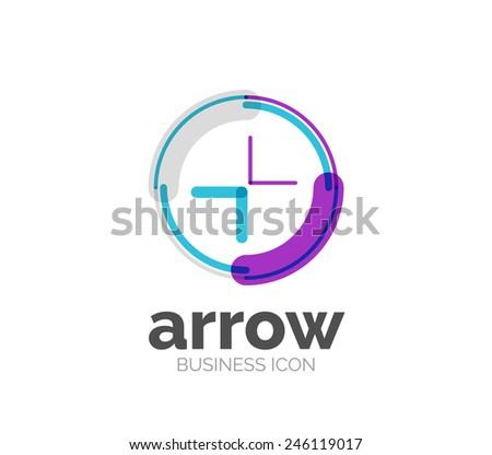 Minimal line design logo, business icon, branding emblem - stock vector
