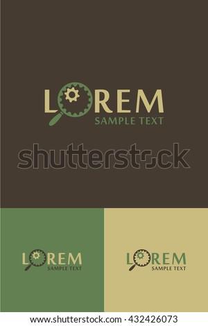Minimal Logo - Looking Glass  - stock vector