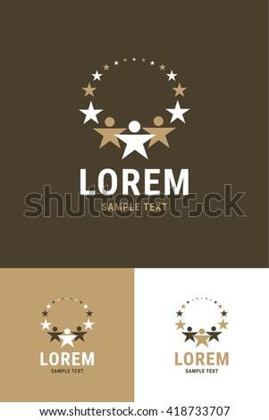 Minimal Logo - Star   - stock vector