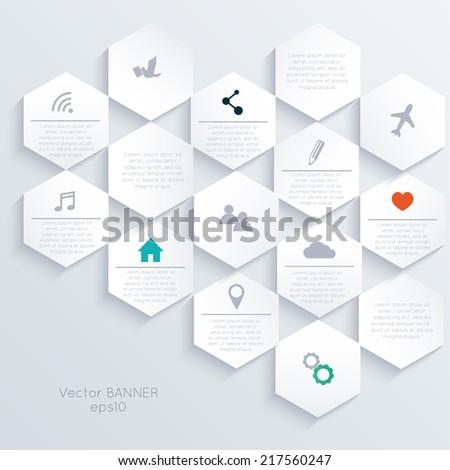 Minimal Web Template - stock vector