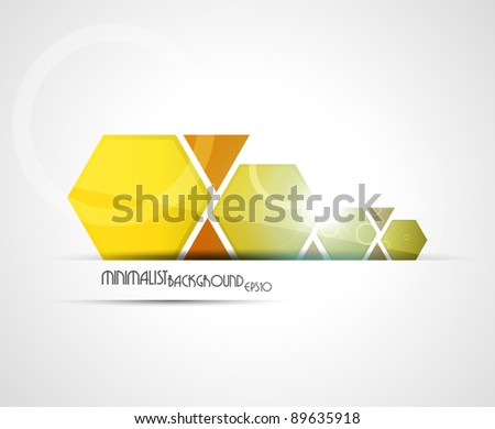 Minimalist background | combined colors. Vector illustration. - stock vector
