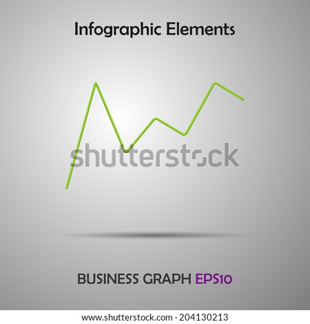 Minimalist  business line chart and infographic elements. Vector illustration. - stock vector