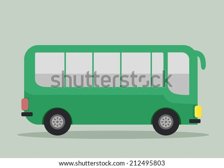 minimalistic illustration of a bus, eps10 vector - stock vector