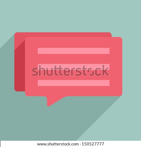 minimalistic illustration of a dialog box - stock vector