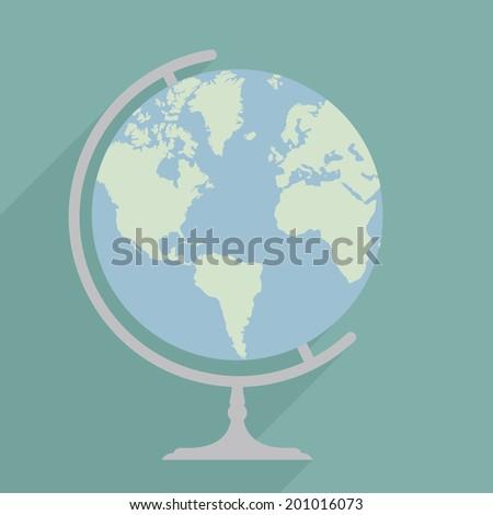minimalistic illustration of a globe, eps10 vector - stock vector