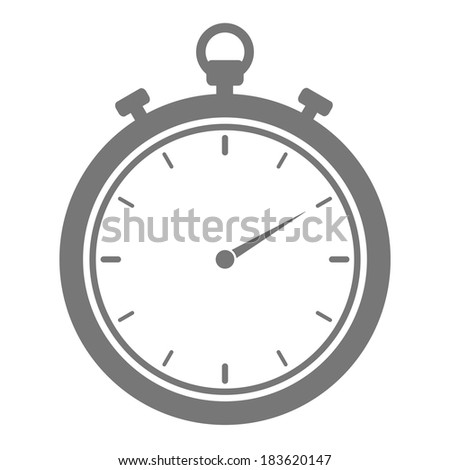 minimalistic illustration of a stopwatch, eps10 vector - stock vector