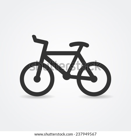 Minimalistic simple bicycle icon. Vector - stock vector