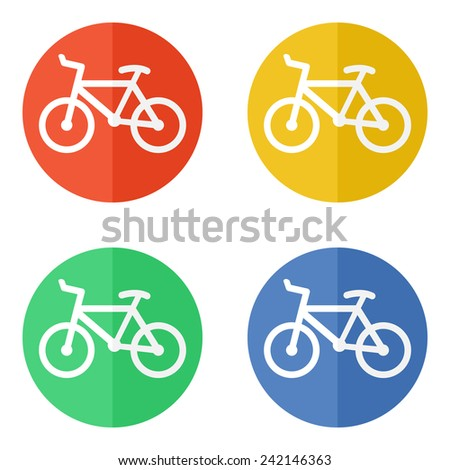 Minimalistic simple bicycle or bike icon vector. - stock vector