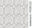 minimalistic tree seamless pattern illustration vector eps 10 - stock vector