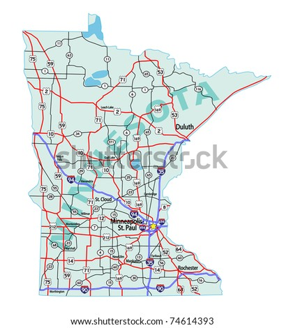 Minnesota Map Stock Photos Images Amp Pictures  Shutterstock