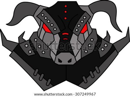 Minotaur Mythology Monster - stock vector
