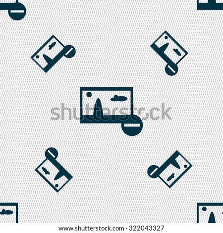 Minus File JPG sign icon. Download image file symbol. Set colourful buttons. Seamless pattern with geometric texture. Vector illustration - stock vector