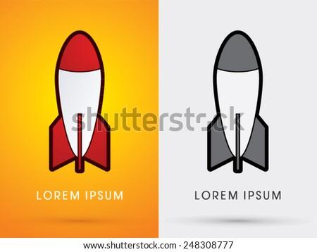 Missile,Rocket, weapon,cartoon ,logo, symbol, icon, graphic, vector. - stock vector