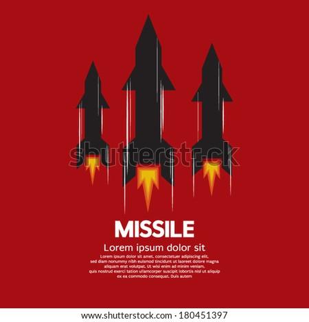 Missile Vector Illustration - stock vector