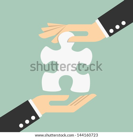 Missing piece - stock vector