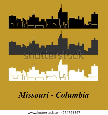Missouri, Columbia - stock vector