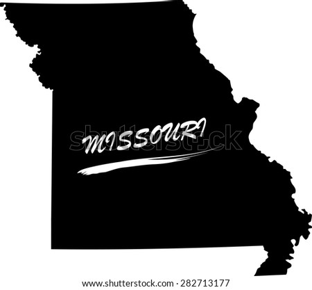 Missouri map vector in black and white background, Missouri map outlines in a new creative design - stock vector
