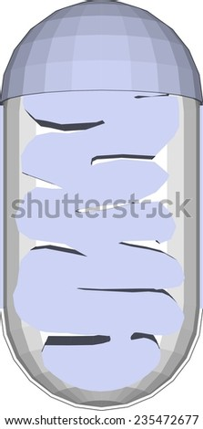 mitochondrion - stock vector