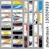 Mix Collection vertical and horizontal headers. Vol 4 - stock vector