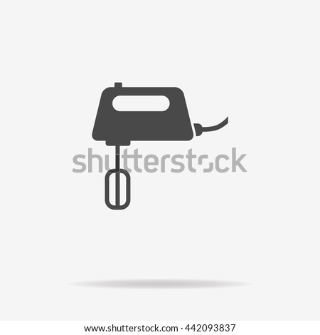 Mixer icon. Vector concept illustration for design. - stock vector