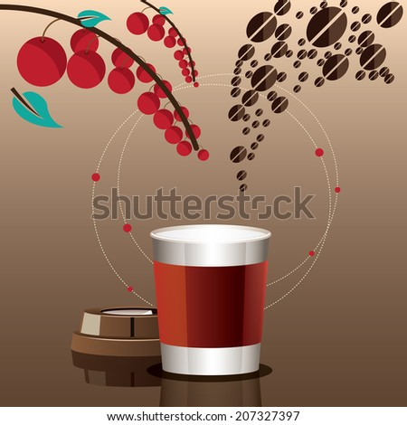 Mixture of coffee, twirl concept. - stock vector