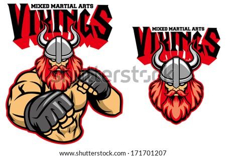 MMA fighter viking - stock vector