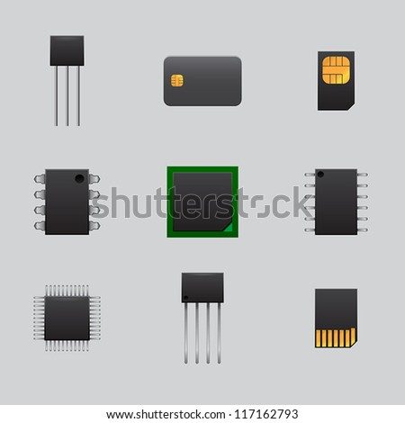 mobile and computer boards - stock vector